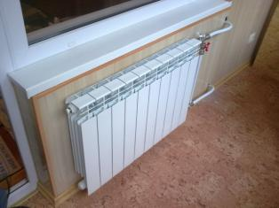 Установка радиатора